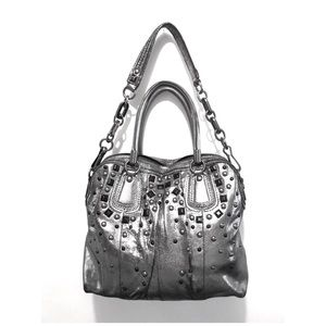 COACH KRISTIN Metallic/Blue Satchel Limited Ed